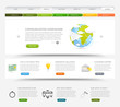 Web design template with colorful icons