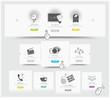 Web design carousel elements whith icons set