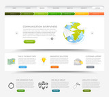 Fototapety Web design template with colorful icons