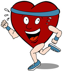 Heart Cartoon Character Runner