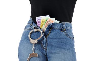 Geld und Handschellen