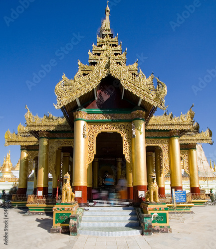 Temple in Shwemawdaw Pagoda, Golden God temple,Bago, Burma