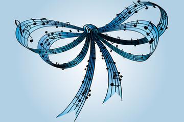 fiocco musica azzurro