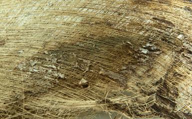 Coconut fiber textured background.