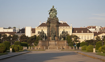 Vienna - queen Maria Theresia landmark