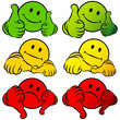 Smileys 2 Thumbs Up, Middle & Down