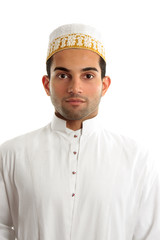Middle eastern man wearing cultural dress