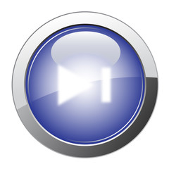 Blue Glossy Forward Button