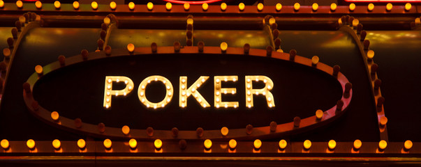 Old Fashioned Poker Sign