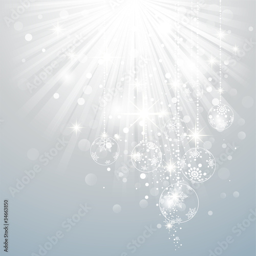 Christmas Background with luminous rays.