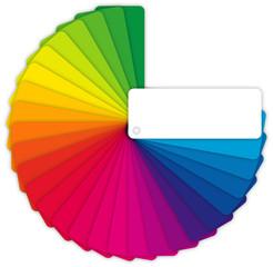 Farbfächer für Design auf weißem Hintergrund
