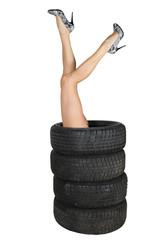 les jambes pneus