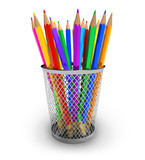 Fototapety Color pencils in holder