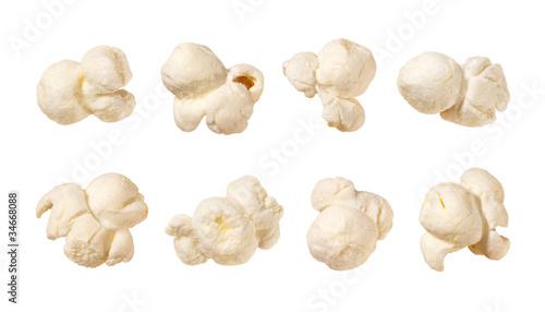 Popcorn isolated on white - 34668088