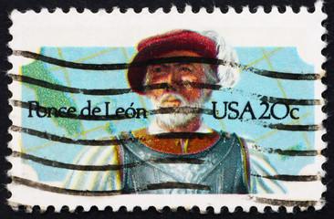 Postage stamp USA 1982 Juan Ponce de Leon, Spanish explorer