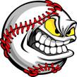 Baseball Face Cartoon Ball Image - 34678218