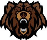 Grizzly Bear Mascot vedoucí grafického