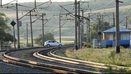 Железнодорожный переезд.