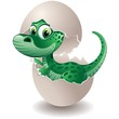 Dinosauro Cucciolo in Uovo-Baby Dinosaur on his Egg-Vector