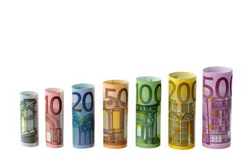 Geldscheine als Diagramm