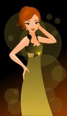 elegancka dziewczyna w klubie nocnym