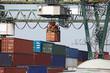 Container Verladung durch Hafenkran