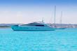 boats yacht and sailboats anchor in formentera illetas