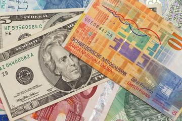 Dollar vs Franken vs Euro