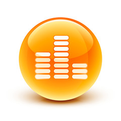 icône equalizer musique / music equalizer icon