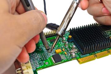 Repair and diagnostic electronics