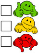 Smiley 2 Thumbs Green/Yellow/Red To Tick A Box