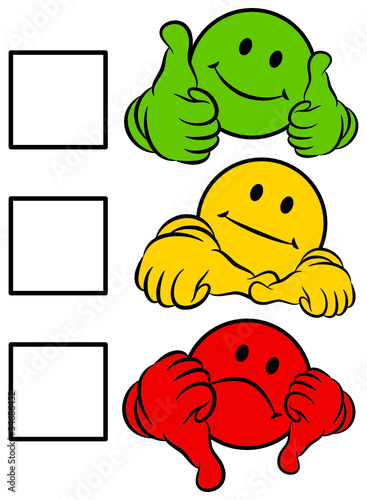 Smiley 2 Thumbs Green/Yellow/Red To Tick A Box von Jan ... F(x) Amber Red Light