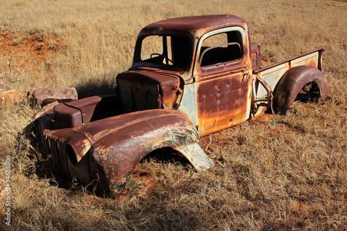 Fototapeten,lastkraftwagen,ton,verrostet,alt