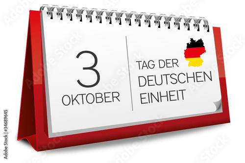 kalender rot 3 oktober tag der deutschen einheit. Black Bedroom Furniture Sets. Home Design Ideas