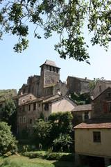 village de brousse le chateau, tarn, aveyron, france