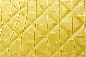 texture yellow leather bag