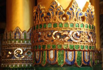 Decorated columns, Shwedagon Pagoda detail