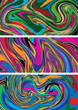 Abstract Vibrant Vector Backgrounds