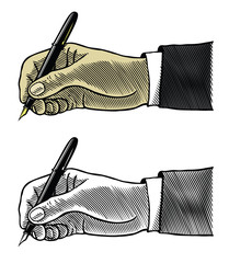 Writing hand with fountain pen