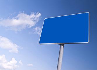 Blank blue road array