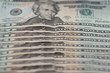 Dollarscheine in einer Reihe