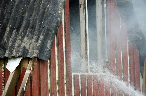 small fire in a house