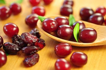 Cranberries, frisch und getrocknet