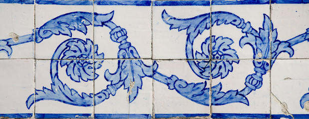 Ornamental old typical tiles