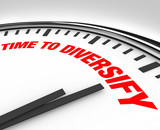 Time to Diversify Clock Manage Investment Risk poster