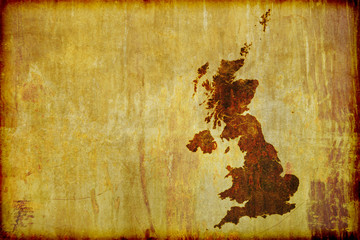 Antique Style Map of Great Britain