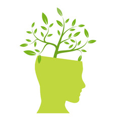 Person ecological, think green # Vector
