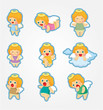 cartoon Angel icon set.