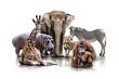 Fototapeten,giraffe,giraffe,flußpferd,nilpferd
