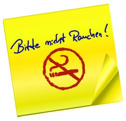 Haftnotiz - Bitte nicht Rauchen